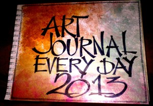 Art Journal Every Day cover as of 1/18/13